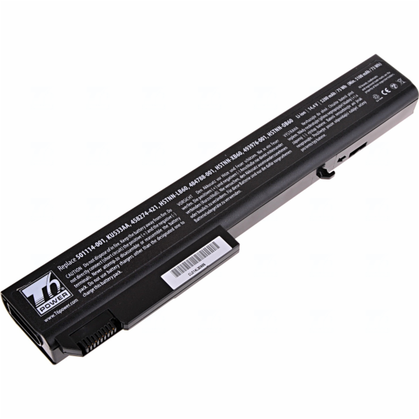 Baterie T6 power HP Compaq 8530p, 8530w, 8540p, 8540w, 8730p, 8730w, 8740w, 8cell, 5200mAh