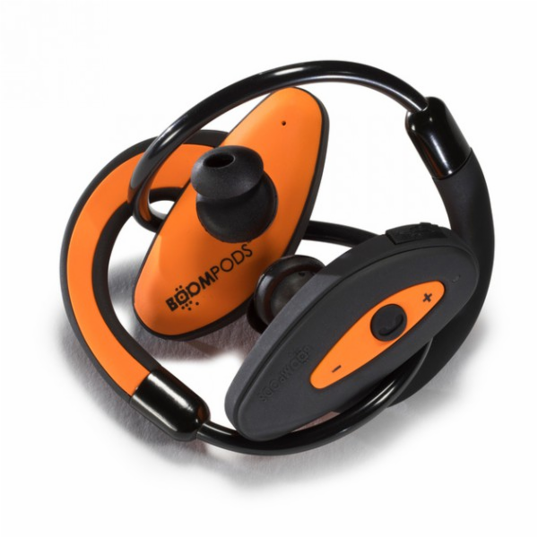 Bezdrátová Bluetooth sluchátka BOOMPODS oranžová