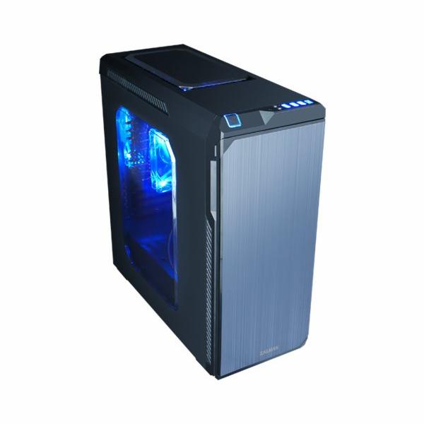 Zalman case miditower Z9 NEO, mATX/ATX, průhledný bok, USB3.0, bez zdroje, černá