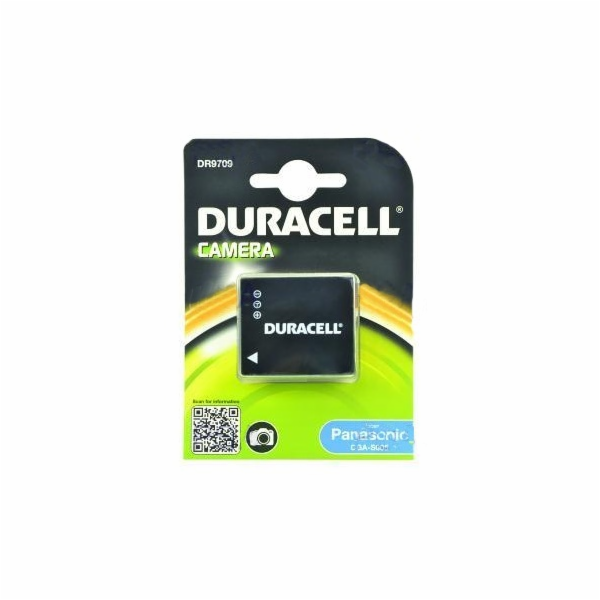 DURACELL Baterie - DR9709 pro Panasonic DMC-FS1, černá, 1050 mAh, 3.7V