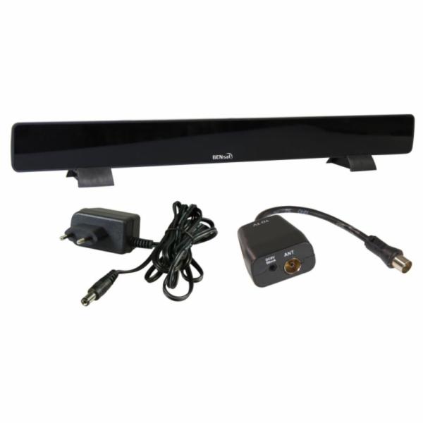 BENsat HDI-300 - pokojová anténa pro DVB-T/T2, aktivní 46 dBi, LTE filtr, černá