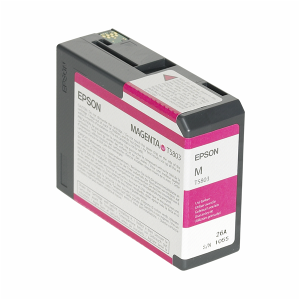 Epson ink cartridge magenta T 580 80 ml T 5803