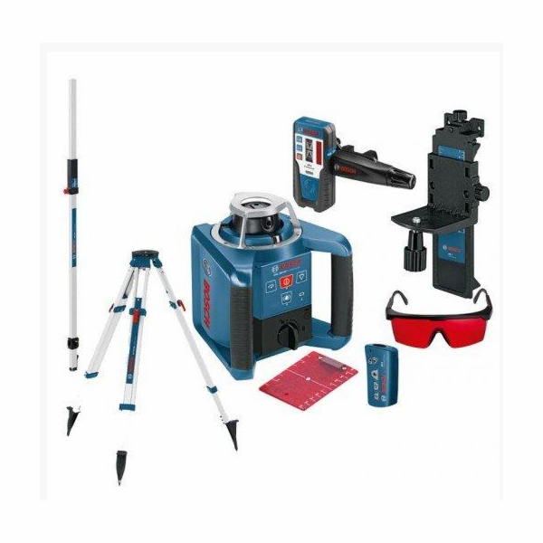 Laser rotační Bosch GRL300HV + stativ BT170HD + lať GR240