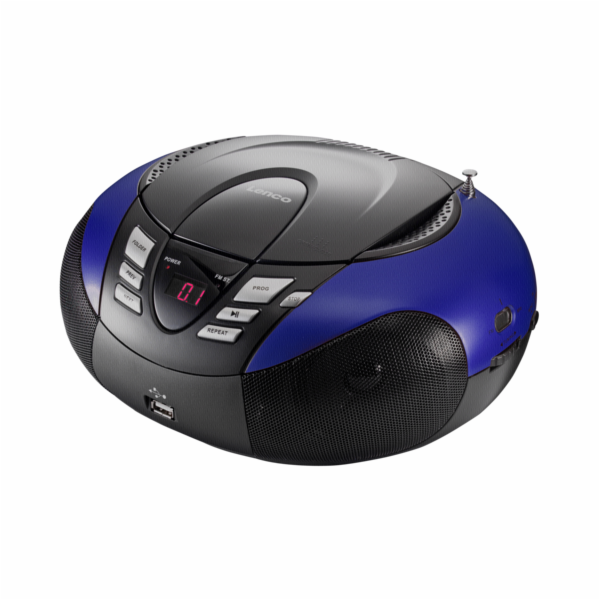 Rádio Lenco SCD-37 USB modré