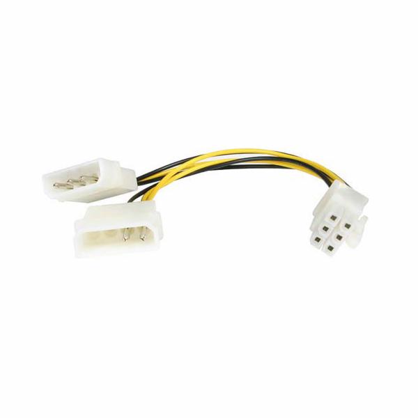 """Premiumcord kn-9 Redukce napájecí 5.25"""" Molex - 6 pin pro PCI-E grafické karty"""