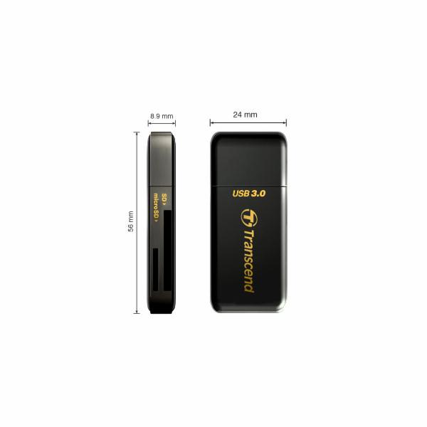 TRANSCEND Card Reader F5, USB 3.0, Black