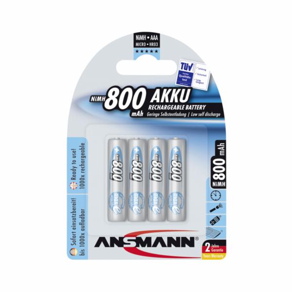 1x4 Ansmann maxE NiMH Aku Micro AAA 800 mAh nemecky