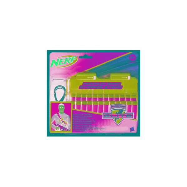 NERF Elite 2 náhradní zásobníky s popruhem a 24 šipkami (Bandolier Kit)