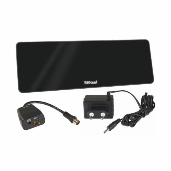 BENsat HD-101N - pokojová anténa pro DVB-T/T2, aktivní 44 dBi, LTE filtr, černá