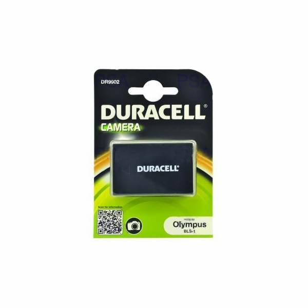 DURACELL Baterie - DR9902 pro Olympus BLS-1, černá, 1050 mAh, 7.4V