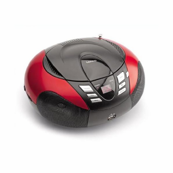 Rádio Lenco SCD-37 USB červené