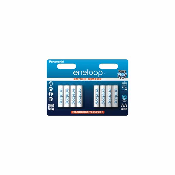 Baterie 1x8 Panasonic Eneloop Mignon AA 1900 mAh