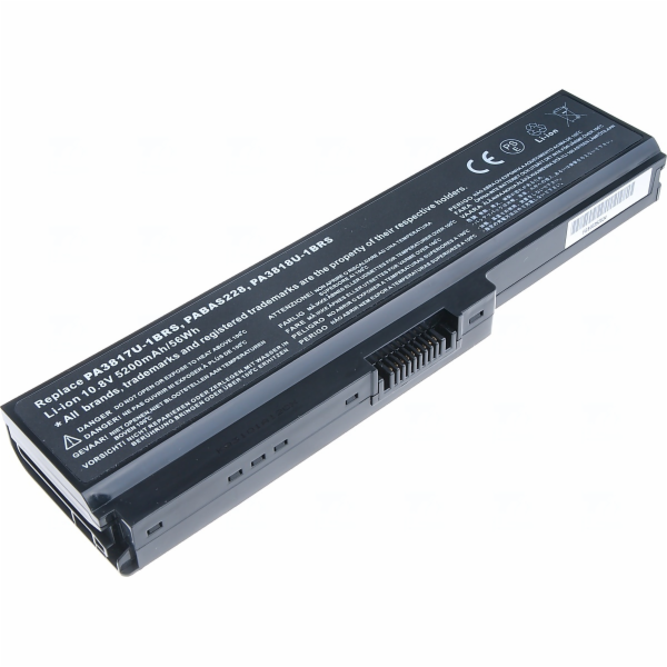 Baterie T6 power Toshiba Satellite L730, L735, L740, L745, L750, L755, L775, 6cell, 5200mAh