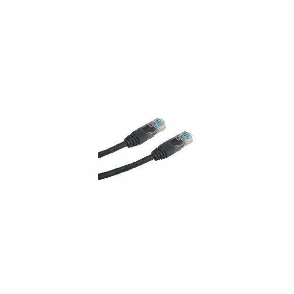 DATACOM patch cord UTP cat5e 0,25M černý