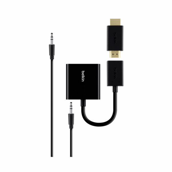 Belkin HDMI to VGA-Adapter with Audiocable black B2B137-BLK