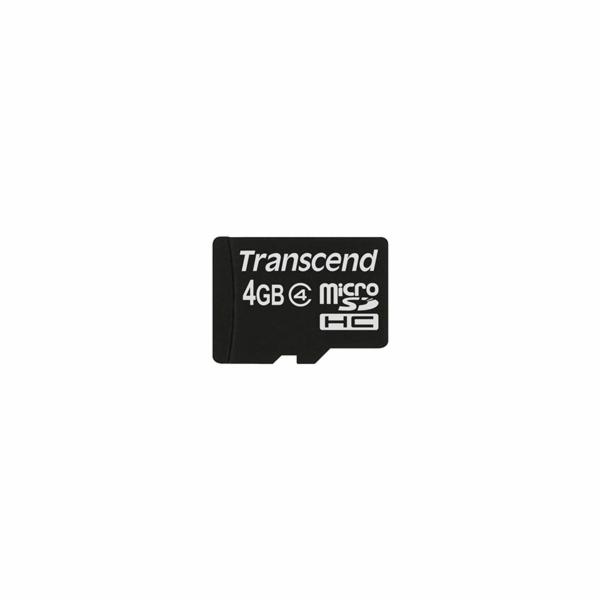 TRANSCEND Micro SDHC Class 4 4GB (bez adaptéru)