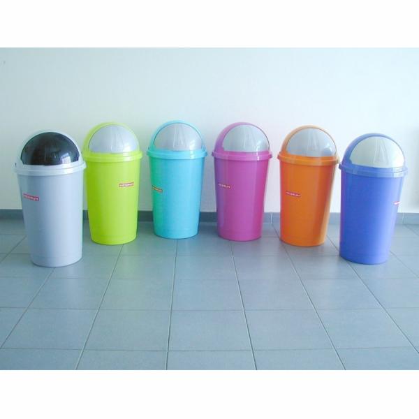 Koš odpadkový 50L SWING mix barev