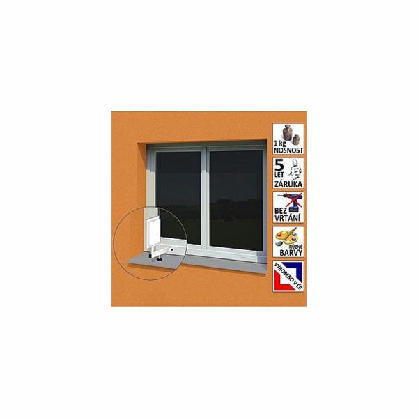 """Anténní držák malý na plastové okno """"L"""", délka 17,5 cm, výška 25 cm, d=20mm"""