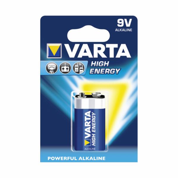 50x1 Varta High Energy 9V block 6 LR 61 PU master box