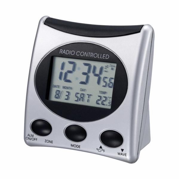 TECHNOLINE WT 221-T stříbrný - rádiem řízený, vnitřní teplota
