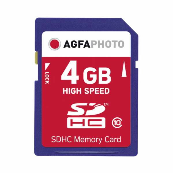 AgfaPhoto SDHC Card 4GB High Speed Class 10 UHS I