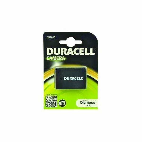 DURACELL Baterie - DR9613 pro Olympus LI-10B, černá,1050 mAh, 3.7V