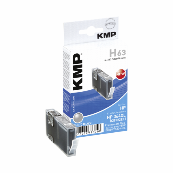 KMP H63 cartridge cerna komp. s HP CB 322 EE No. 364 XL