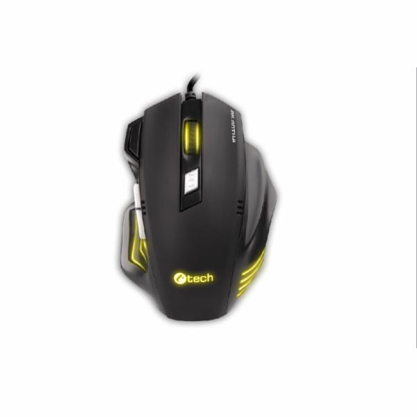 C-TECH herní myš AKANTHA ULTIMATE, herní, 7 barev podsvícení, laser 3200DPI, programovatelná,