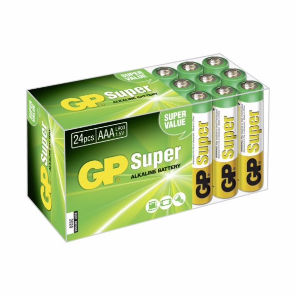 1x24 GP Super Alkaline Micro AAA LR 03 PET Box 03024AB24