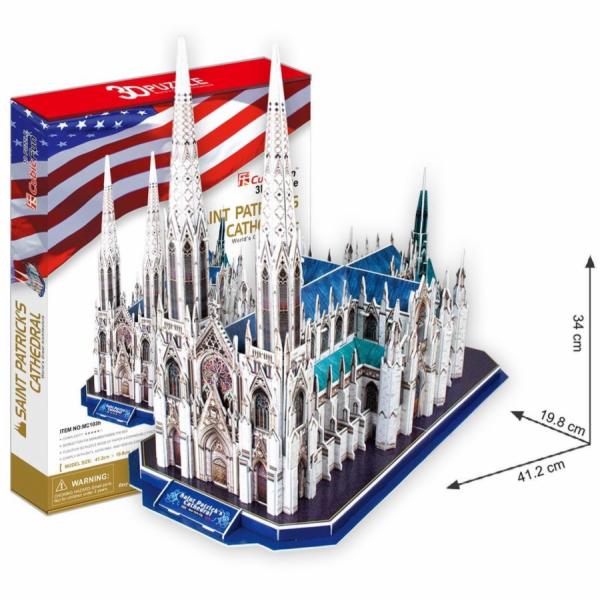 Puzzle 3D Katedrála Sv.Patrika - 117 dílků
