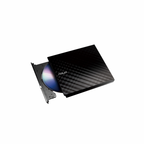 ASUS DVD SDRW-08D2S-U LITE/BLACK, External Slim DVD-RW, black, USB