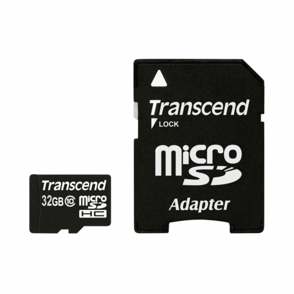 Transcend MicroSDHC karta 32GB + Adapter / Class 10