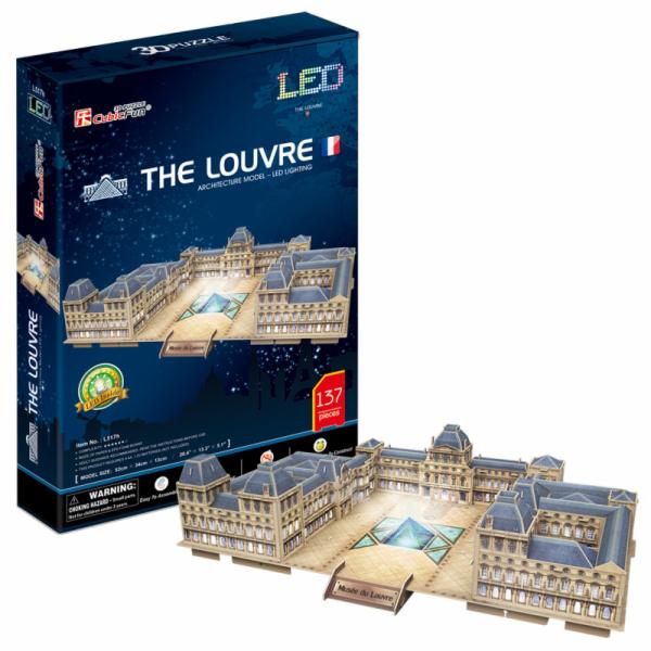 Puzzle 3D The Louvre /LED 137 dílků