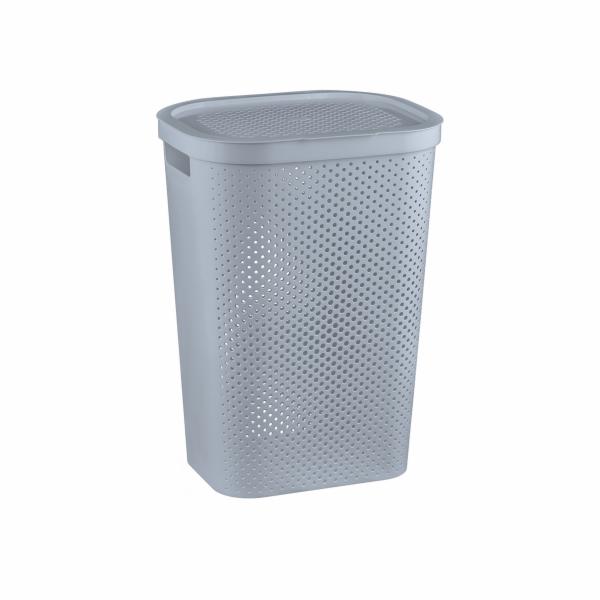koš 59l na použité prádlo,šedý INFINITY