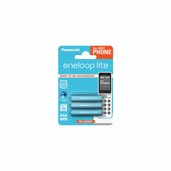 1x3 Panasonic Eneloop Lite DECT Micro AAA 550 mAh BK-4LCCE/3DE