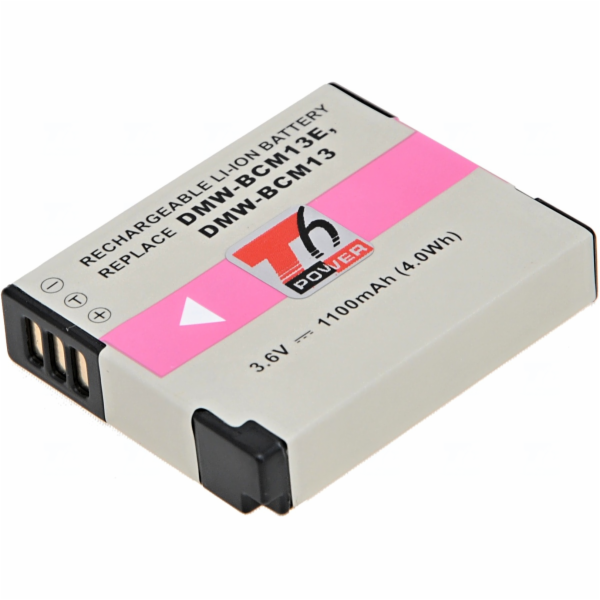 Baterie T6 power Panasonic DMW-BCM13, DMW-BCM13E, 1100mAh, černá