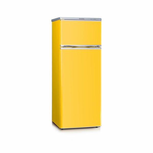 KS 9797 kombi. chladnička 166+46l žlutá