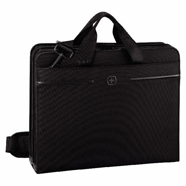 """WENGER DIRECTIVE - 14"""" business organizér s pouzdrem na notebook a tablet, černý"""