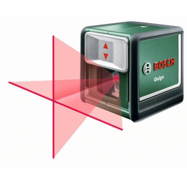 Samonivelační křížový laser Bosch Quigo, stativ, rozsah 7m, 0603663220