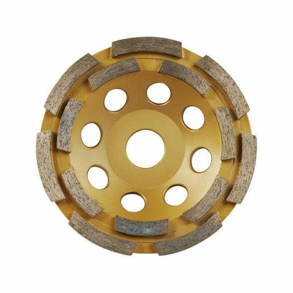 Kotouč diamantový brusný dvouřadý, 115x22,2mm, EXTOL PREMIUM