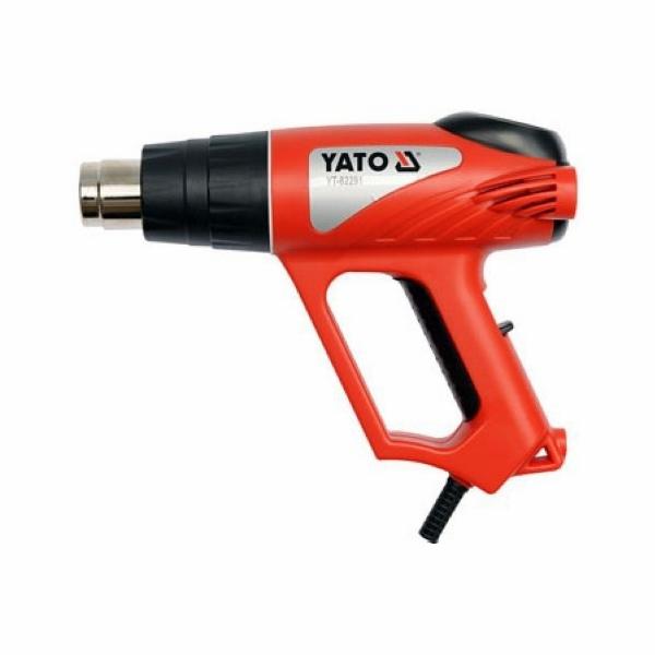 Pistole horkovzdušná s příslušenstvím, 2000 W, YATO