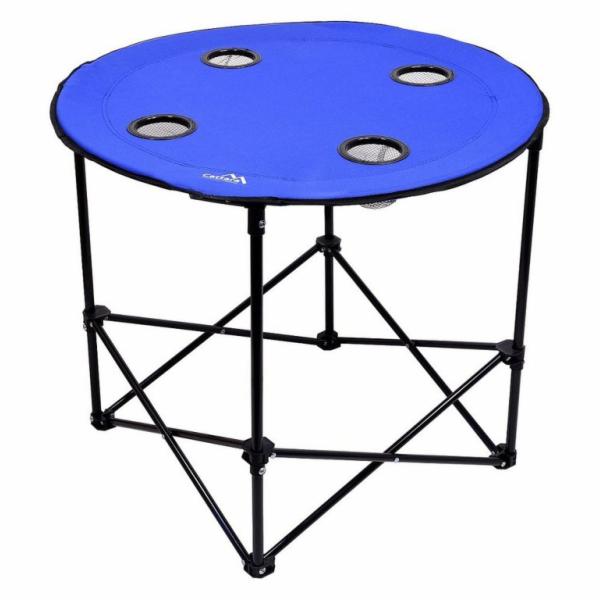 Stůl kempingový skládací SPLIT modrý, CATTARA