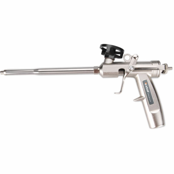 Pistole na PU pěnu celokovová, s regulací průtoku, EXTOL PREMIUM