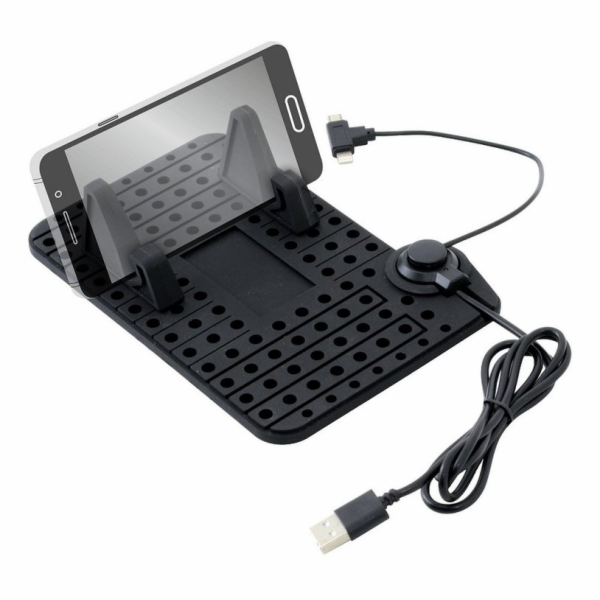 Držák telefonu s podložkou a kabelem micro USB, COMPASS