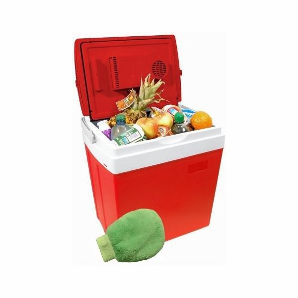 Chladící box 30litrů RED 220/12V displej s teplotou, COMPASS