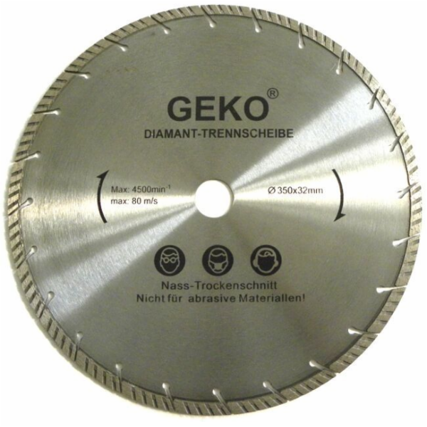 Diamantový řezný kotouč, 350x32mm, GEKO