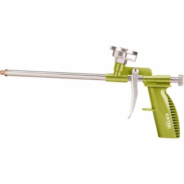 Pistole na PU pěnu, s regulací průtoku, plastový rám, EXTOL CRAFT