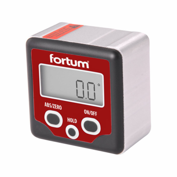 Sklonoměr digitální, 0°-360°, s magnety, FORTUM