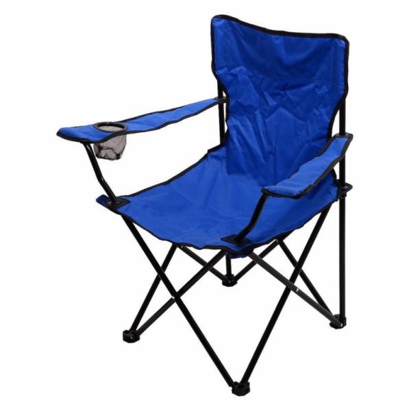 Židle kempingová skládací BARI modrá, CATTARA