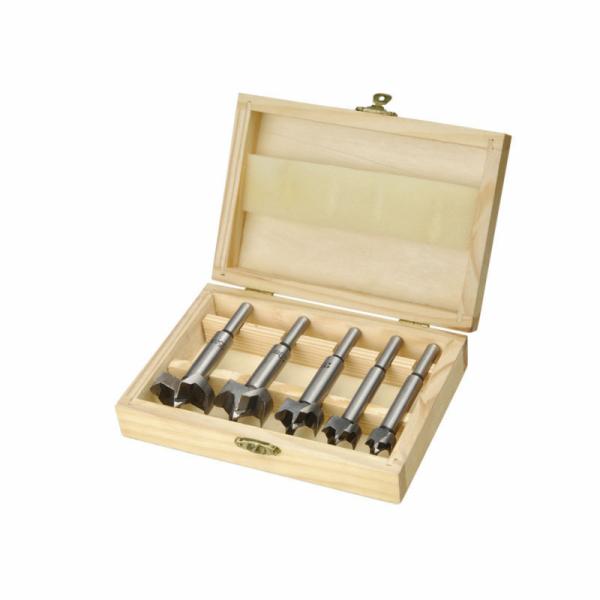 Frézy-sukovníky, do dřeva, sada 5ks, O 15-20-25-30-35mm, stopka 8mm, EXTOL CRAFT